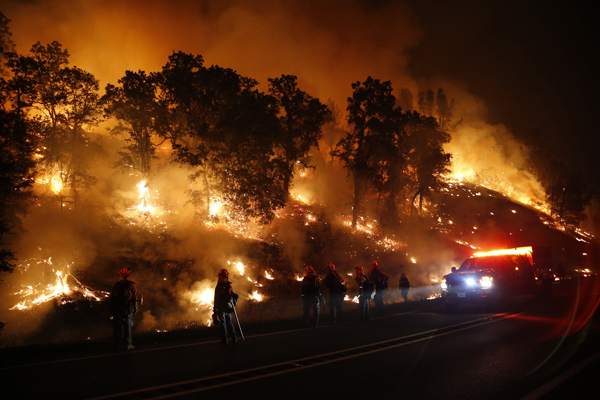 Forest fire rages in Middletown California. The Atlantic